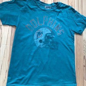 Junk food Miami dolphins tee shirt